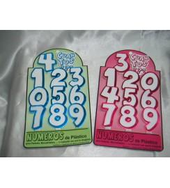 7036 - NUMEROS DE PLASTICO ESTAMPADOS PARA PASTEL (11 PIEZAS