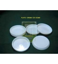 1014 - BASE PLATO CREMA 12 X 15 CMS