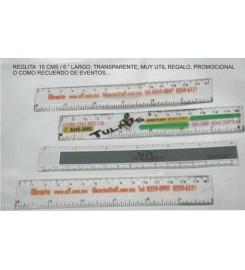 2043 - REGLA 2.5X15CMS IMPRESA A LA ORDEN 1CARA 1TINTA