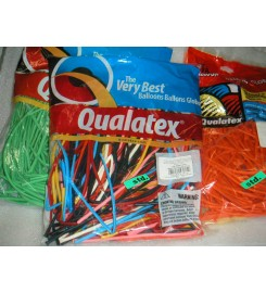 3047 - GLOBO LATEX QTX 160Q COLORES STD. BOLSA CON 100